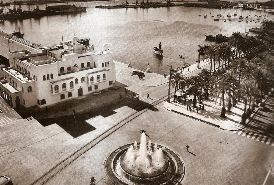 Puerto de Alicante Escalinata de la Reina antigua